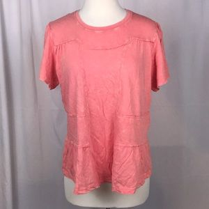 Anthropologie Deletta Coral Top